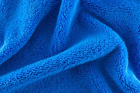 blue microfiber Fabric texture photo