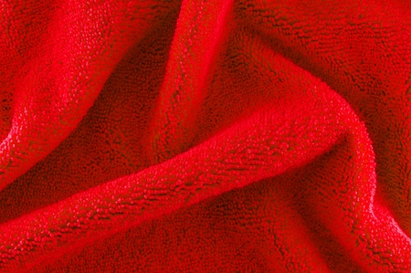 red microfiber Fabric texture photo