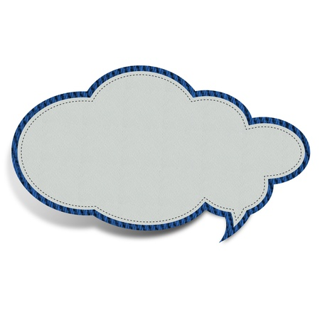 White cloud shaped fabric  You can add your text inside the cloud photo