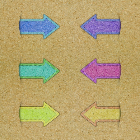Abstract arrow on the paper background Stock Photo - 13565379
