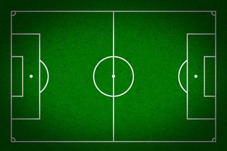terrain foot: soccer - terrain de football avec des lignes blanches sur papier grunge