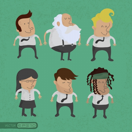 group of business men charactor, women , eps10 vector format Illustration
