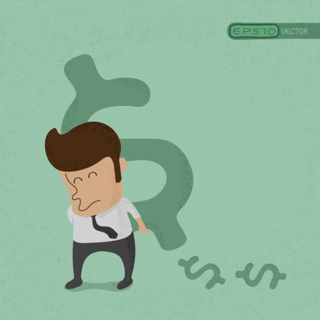 Business man lifting dollar sign  , eps10 vector format Stock Vector - 19718111