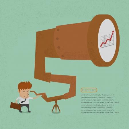 dinero volando: Hombre de negocios que buscan el �xito, en formato vectorial eps10
