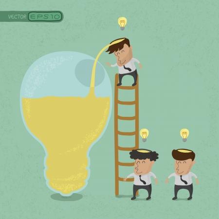entrepreneurs: Business man brainstorming , Make Idea , eps10 vector format