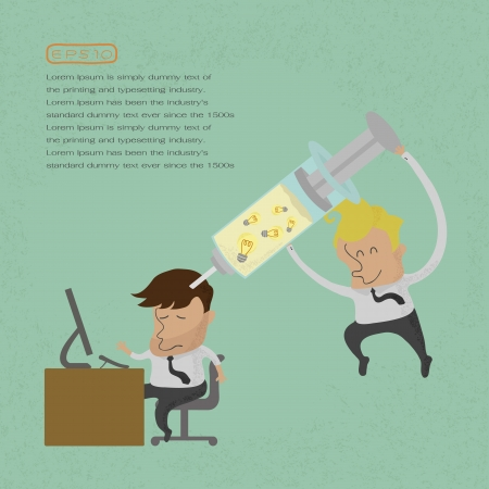 doses: Businessman Make Idea , eps10 vector format Illustration