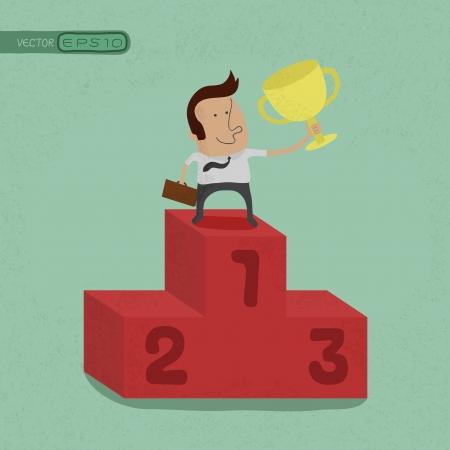 Business man de winnaar, eps10 vector-formaat
