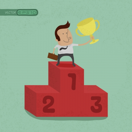 Business man the winner , eps10 vector format Illustration