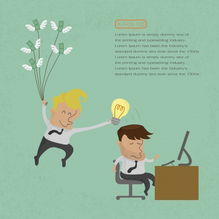 Business man stealing idea , eps10 vector format Vector