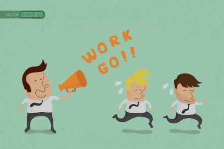 Business man go to work , eps10 vector format