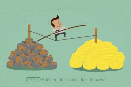 conquering:  risks and challenges in business to success , eps10 vector format Illustration