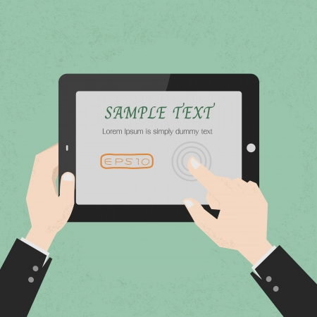 Hands with a tablet touch , eps10 vector format Stock Vector - 19717947