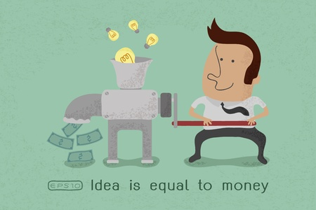 Idea is equal to money , eps10 vector format Vector