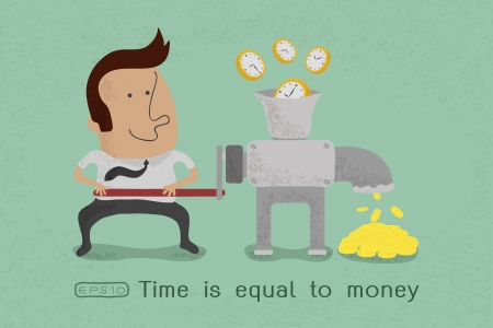 Time is equal to money , eps10 vector format Vector