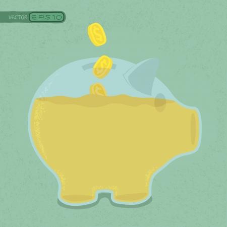 Piggy bank - Saving money , eps10 vector format Vector