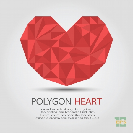 Polygon Heart , eps10 vector format Vector