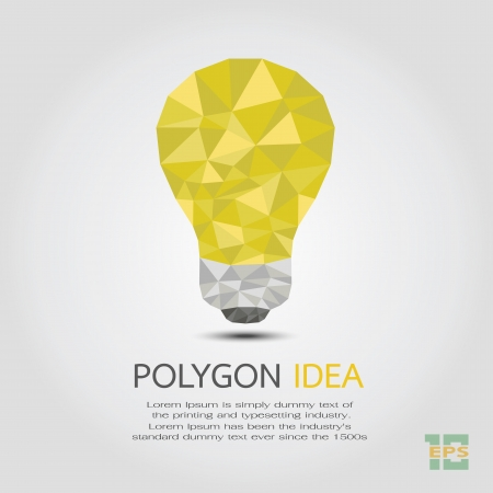 idea: Polygon Idea , eps10 vector format Illustration