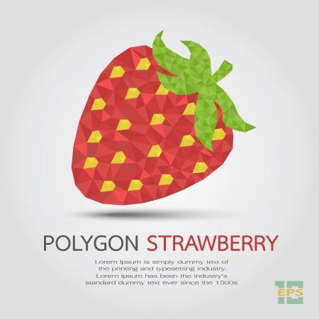 Polygon Strawberry , eps10 vector format Stock Vector - 19717937