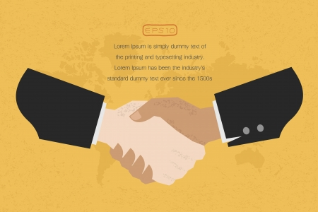 Two business man shakehand  , eps10 vector format Vector