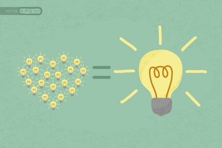 contrasts: Many small ideas equal a big one idea , eps10 vector format