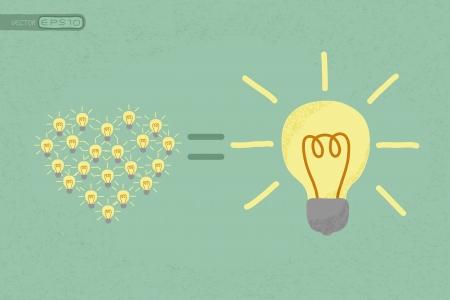synergie: Viele kleine Ideen gleich ein gro�es Idee, eps10 Vektor-Format