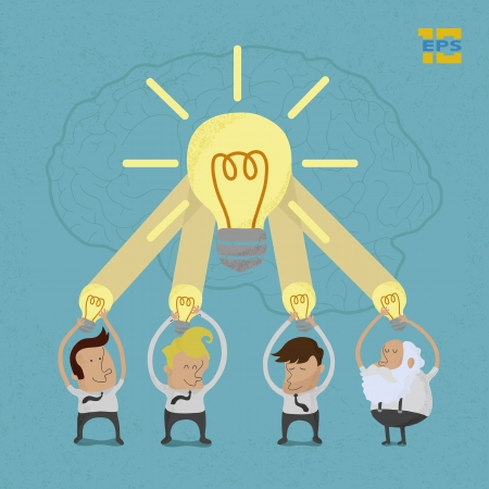 Business man brainstorming , eps10 vector format Vector