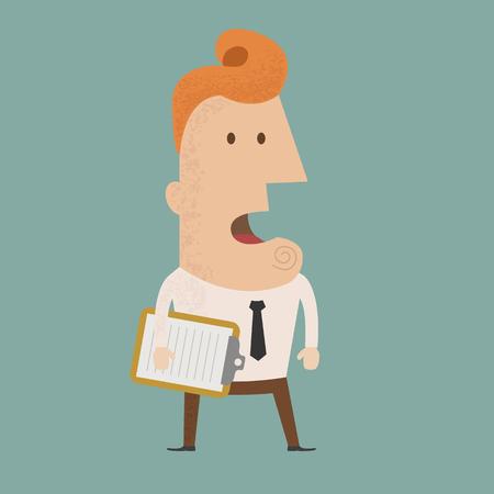 unsure: Uomo assegno affari, eps10 formato vettoriale