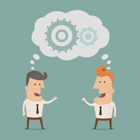 Business man  brainstorming  , eps10 vector format Vector