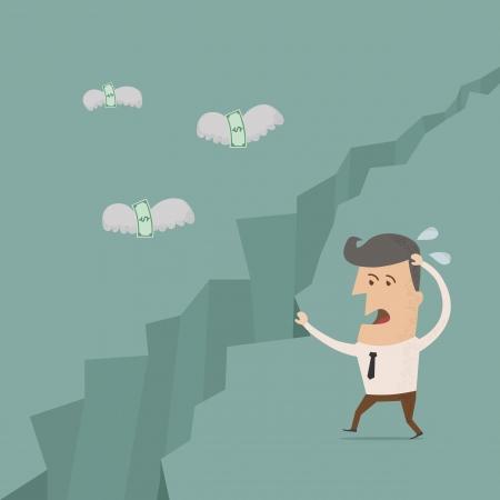 flying money: El dinero est� volando lejos, eps10 formato vectorial