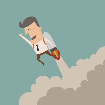 cohetes: El crecimiento de negocios, eps10 formato vectorial Vectores