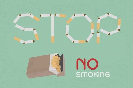 cigaret: Word Stop made of cigaret stubs , eps10 vector format