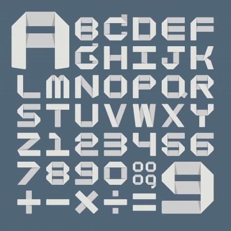 Origami alphabet ( A - Z ) Vector