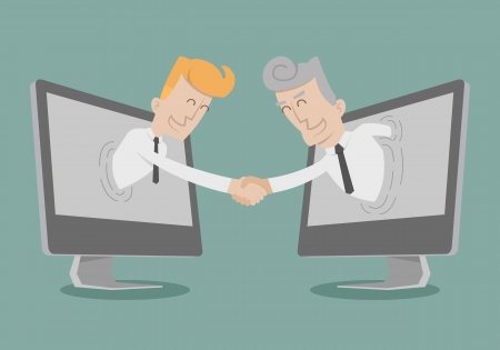 Businessman shake hand  Illustration