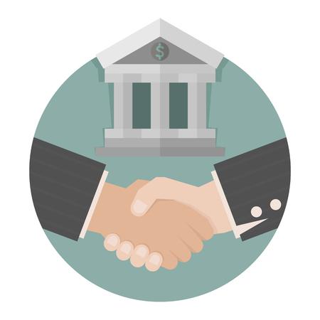 business meeting asian: Deux homme d'affaires poign�e de main, format vectoriel eps10