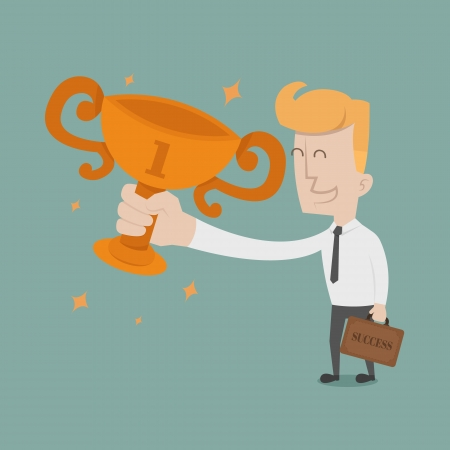 Businessman the winner   Vector