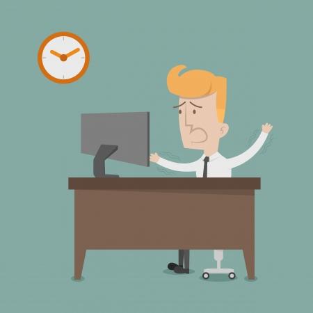 contestant: Business man urgent   Illustration