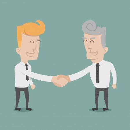 dandose la mano: El hombre de negocios d�ndose la mano