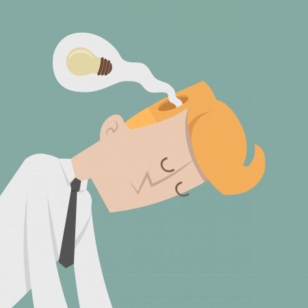 failed strategy: Businessman lose idea