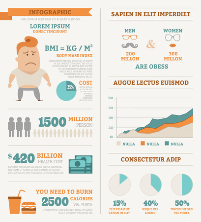 calorie: Health infographics , eps10 vector format