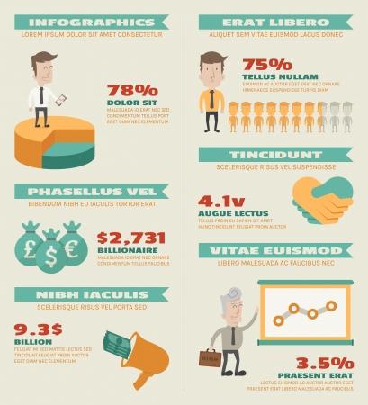 successful people: Infografica Attivit� elementi, formato vettoriale eps10
