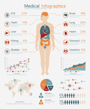 Medical infographic , eps10 vector format