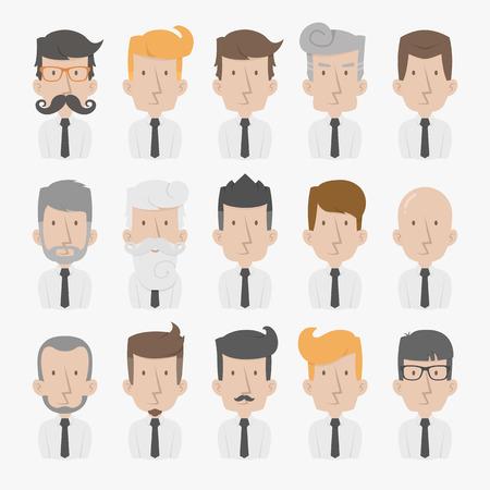 caucasians: Uomo d'affari con sfondo bianco, formato vettoriale eps10