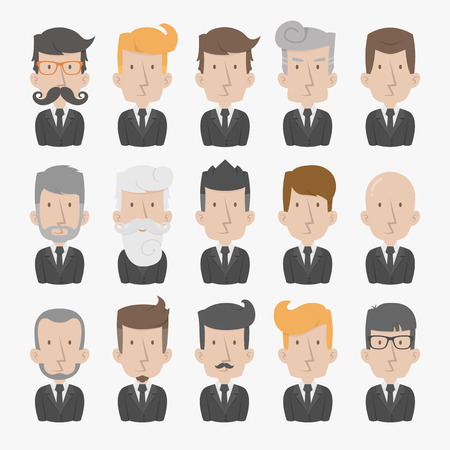 man standing alone: Businessman with White Background , eps10 vector format Illustration