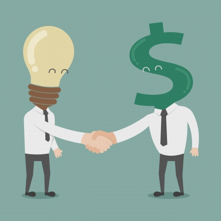 Businessman shaking hands  , eps10 vector format Vector
