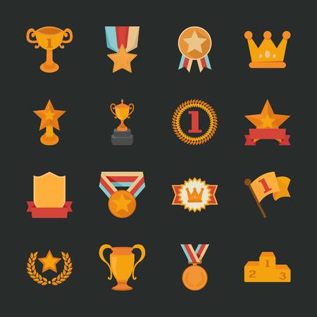 Prizes & Awards icons , flat design , eps10 vector format Illustration
