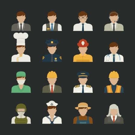 professions lib�rales: Ic�ne de personnes, professions ic�nes, ensemble des travailleurs, format eps10