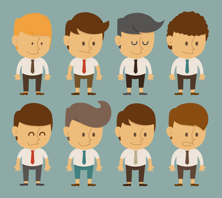 set of businessman: Set of businessman characters poses , office worker , eps10 vector format