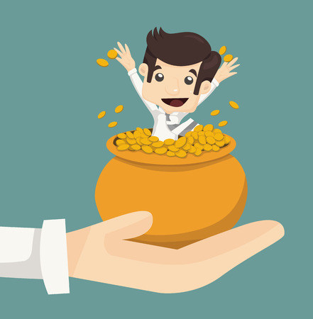 Businessman wealth  Ilustração