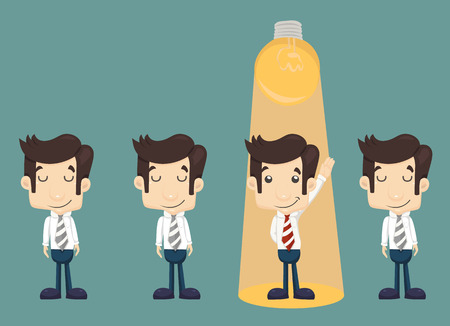 Businessman make idea  Vector