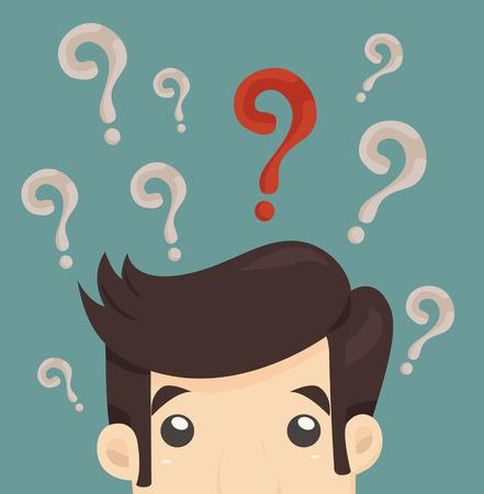 Businessman confuso, formato vettoriale eps10